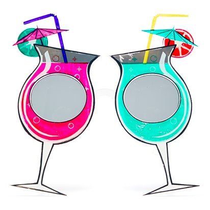 Funky Cocktail Glasses - Summer Festival Novelty Glasses - Fancy Dress Accessory  front