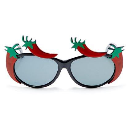 Red Chilli Pepper Glasses - Summer Festival Novelty Glasses - Fancy Dress Accessory  front