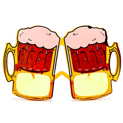 Beer Glasses - Summer Festival Novelty Glasses - Fancy Dress Accessory  front