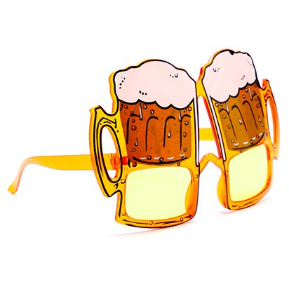 Beer Glasses - Summer Festival Novelty Glasses - Fancy Dress Accessory  left