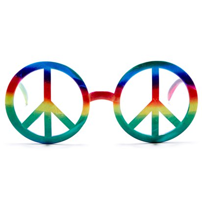 Hippie Peace Glasses - Summer Festival Novelty Glasses - Fancy Dress Accessory  front