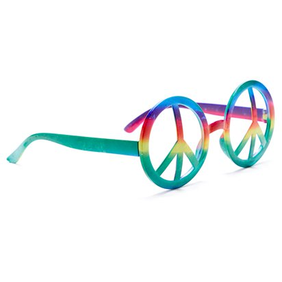 Hippie Peace Glasses - Summer Festival Novelty Glasses - Fancy Dress Accessory  left