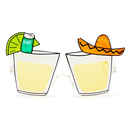 Tequila Glasses - Summer Festival Novelty Glasses - Fancy Dress Accessory  front