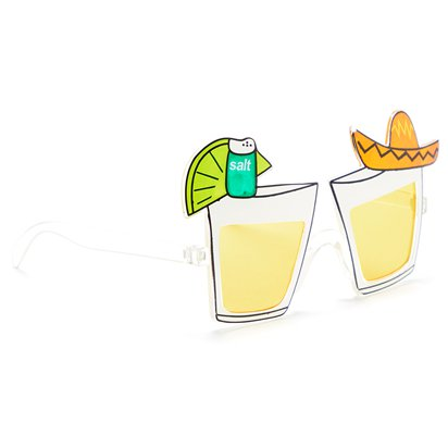 Tequila Glasses - Summer Festival Novelty Glasses - Fancy Dress Accessory  left