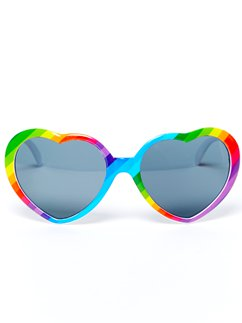 Pride Heart Dark Lens Glasses