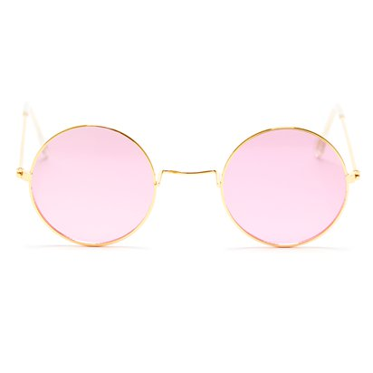 Round Pink Glasses - Fancy Dress Accessories front