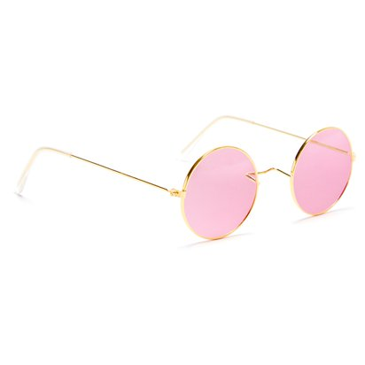 Round Pink Glasses - Fancy Dress Accessories left