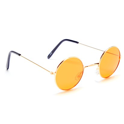Round Orange Glasses - Fancy Dress Accessories left