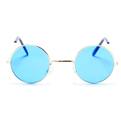Round Blue Glasses - Fancy Dress Accessories front