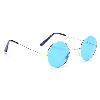 Round Blue Glasses - Fancy Dress Accessories left