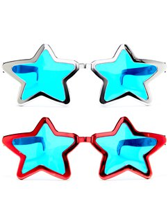 Jumbo Star Shaped Glasses - Assorted Colours