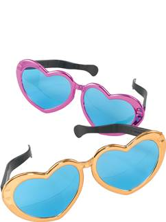 Jumbo Heart Shaped Glasses - Assorted Colours