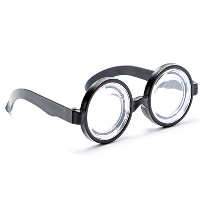 Round Nerd Glasses - World Book Day Fancy Dress Costume Accessories left