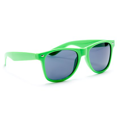 80's Neon Wayfarer Glasses - Assorted Colours - 80's Fancy Dress Accessories lifestyle