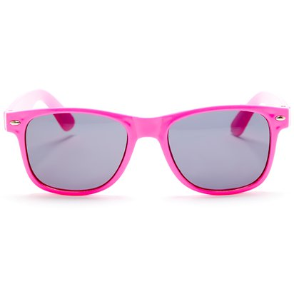 80's Neon Wayfarer Glasses - Assorted Colours - 80's Fancy Dress Accessories right