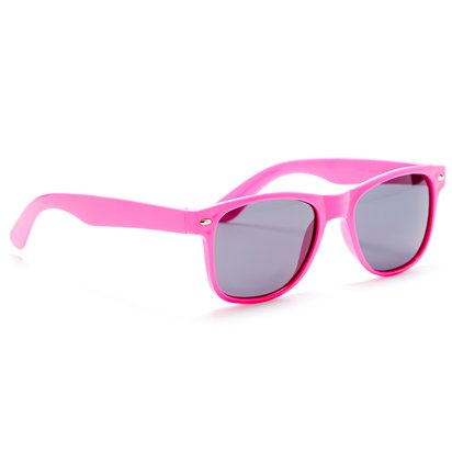 80's Neon Wayfarer Glasses - Assorted Colours - 80's Fancy Dress Accessories side