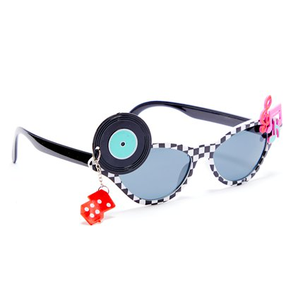Classic 50's Glasses - Funny Glasses - Fancy Dress Accessories left