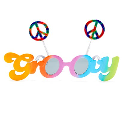 Groovy 60's Glasses - Funny Glasses - Fancy Dress Accessories front