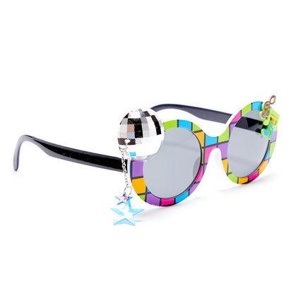 Disco 70's Glasses - Funny Glasses - Fancy Dress Accessories left