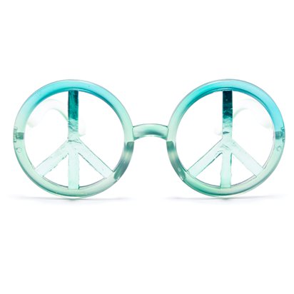 World Peace Glasses - Festival Glasses front