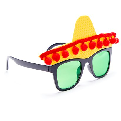 Fiesta Glasses - Funny Glasses - Fancy Dress Accessories left