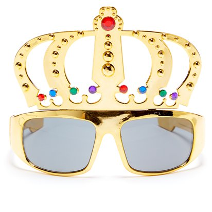 King Gold Glasses - Funny Glasses - Fancy Dress Accessories front