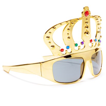 King Gold Glasses - Funny Glasses - Fancy Dress Accessories left
