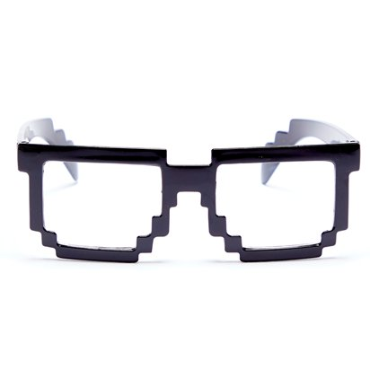 Pixelated Glasses - Funny Glasses - Fancy Dress Accessories front