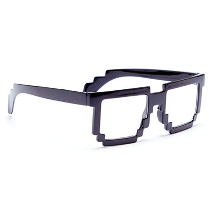 Pixelated Glasses - Funny Glasses - Fancy Dress Accessories left