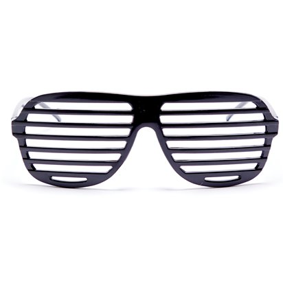 Black Slatted Glasses - Funny Glasses - Fancy Dress Accessories front