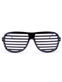 Black Slatted Glasses