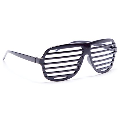 Black Slatted Glasses - Funny Glasses - Fancy Dress Accessories left
