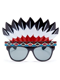 Native American Head Dress Glasses