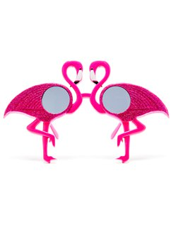Novelty Glittery Flamingo Glasses