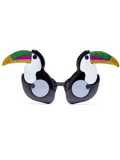 Glitter Toucan Novelty Glasses