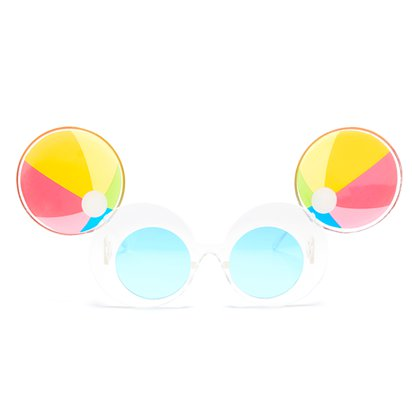 Beach Ball Novelty Glasses - Summer Party Glasses - Festival Glasses left