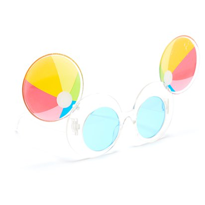 Beach Ball Novelty Glasses - Summer Party Glasses - Festival Glasses right