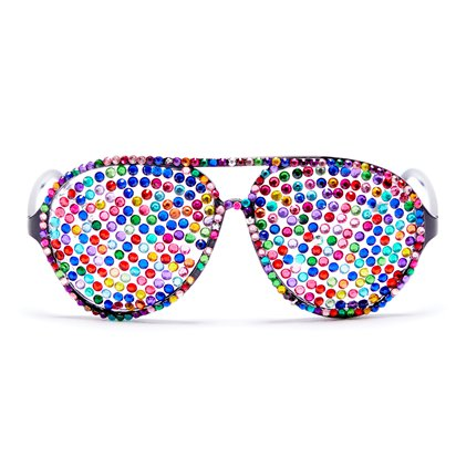 Festival Jeweled Novelty Glasses - Summer Party Glasses - Festival Glasses front