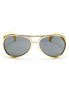 Gold Elvis Style Glasses