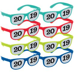 2019 Printed Glasses Multi-Pack - Jewel Tones