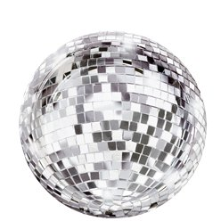 Glitterati Disco Ball Plates - 18cm Paper Party Plates