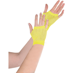 Fishnet Gloves Neon Yellow