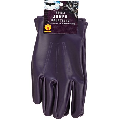 The Joker Gloves - Superhero Fancy Dress Accessories front