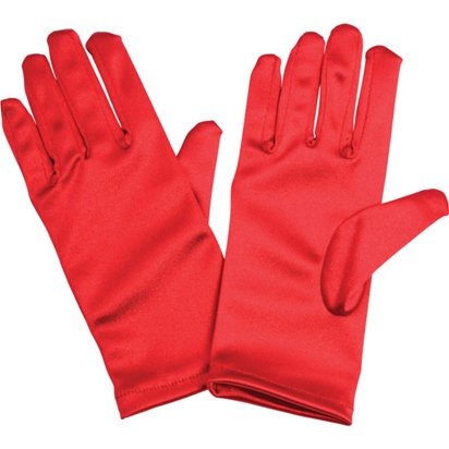 Kids Red Gloves - Fancy Dress Accessories front