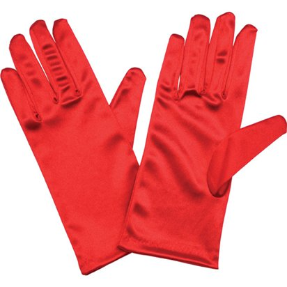 Adult Short Red Gloves - Fancy Dress Accessories front