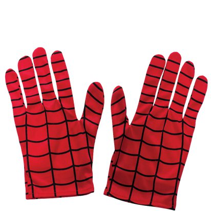 Adult Spider-Man Gloves - Superhero Fancy Dress Accessories front