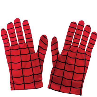 Kids Spider Man Gloves - Superhero Fancy Dress Accessories front
