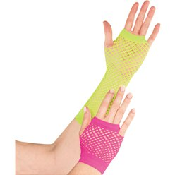Neon Fishnet Gloves