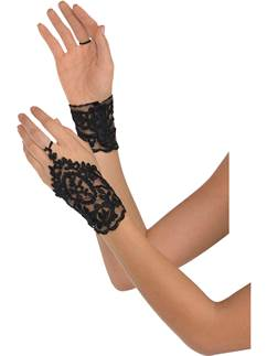 Adult Black Lace Glovettes