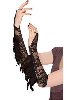 Adult Raven Feather Gloves